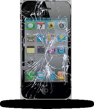 iphone 4 kaputt display reparatur flying phone